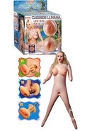 Adam And Eve Carmen Luvana Cyberskin Inflatable Sex Doll Natural