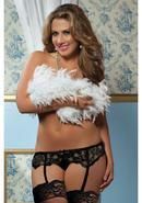 Lace Affairs Garter Belt Black 3/4x