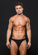 Microfiber Thong M/l Stripe Black