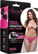 Vibrating Lace Thong W/remote-pnk-plus