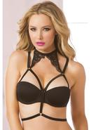 Strappy Elastic And Lace Choker-black-os
