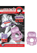 The Macho Erection Keeper 7 Function Vibrating Cockring Purple