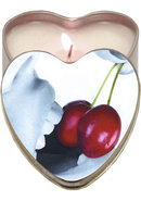 Edible Candle Heart Massage Oil Candle Cherry 4 Ounce