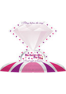 Bachelorette Party Diamond Ring Centerpiece