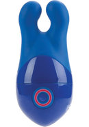 Body And Soul Connection Silicone Body Massager Waterproof Blue