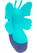 The Harlow Fluterfly Silicone Massager Turquoise