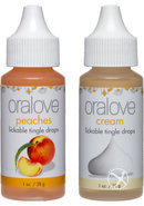 Oralove Delectable Duo Lickable Tingle Drops Peaches And...