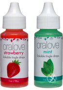 Oralove Delectable Duo Lickable Tingle Drops Strawberry And...
