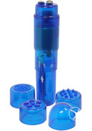 Mini Mite Vibrator Waterproof 3.75 Inch Blue