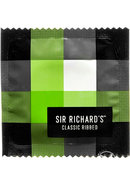 Sir Richards Classic Ribbed Textured Latex Condoms 3 Each Per Pack