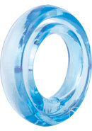 Ring O 2 Cockring With Ball Sling Waterproof Blue 12 Each...