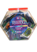 Trustex Condom Dual Color Lubricated 100 Per Bowl