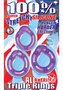 All American Triple Rings Silicone Cockrings Waterproof Purple