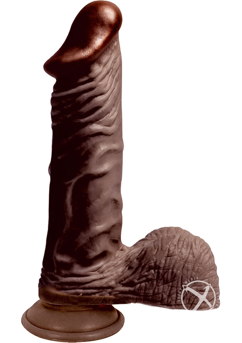 Lifelikes Black King Dildo 9 Inch Brown