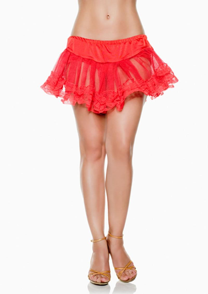 Lace Petticoat - Red - One Size (disc)