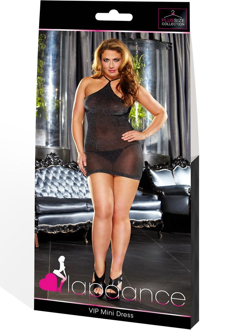 Vip Mini Dress - Black Metallic Plus
