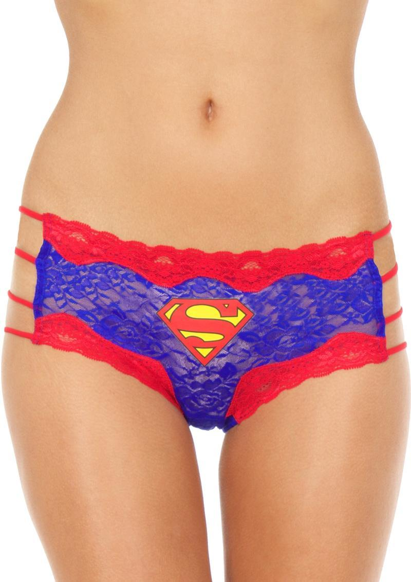 Superman Lace String Hipster Panty-med