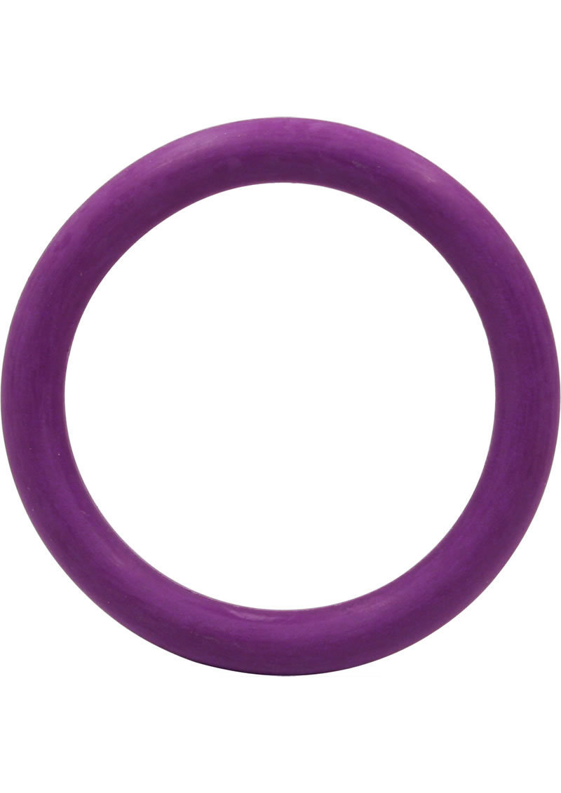 Rubber Cock Ring 1.25 Inch Purple