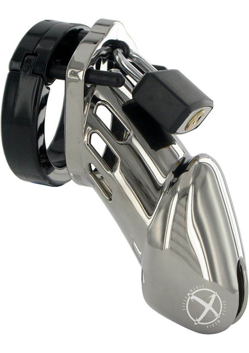 C B 6000 Designer Collection Male Chastity Device Chrome Finish