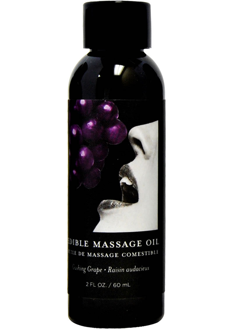 Edible Massage Oil Grape 2 Ounce
