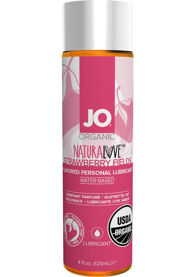 Jo Naturalove Water Based Lubricant Strawberry 4oz