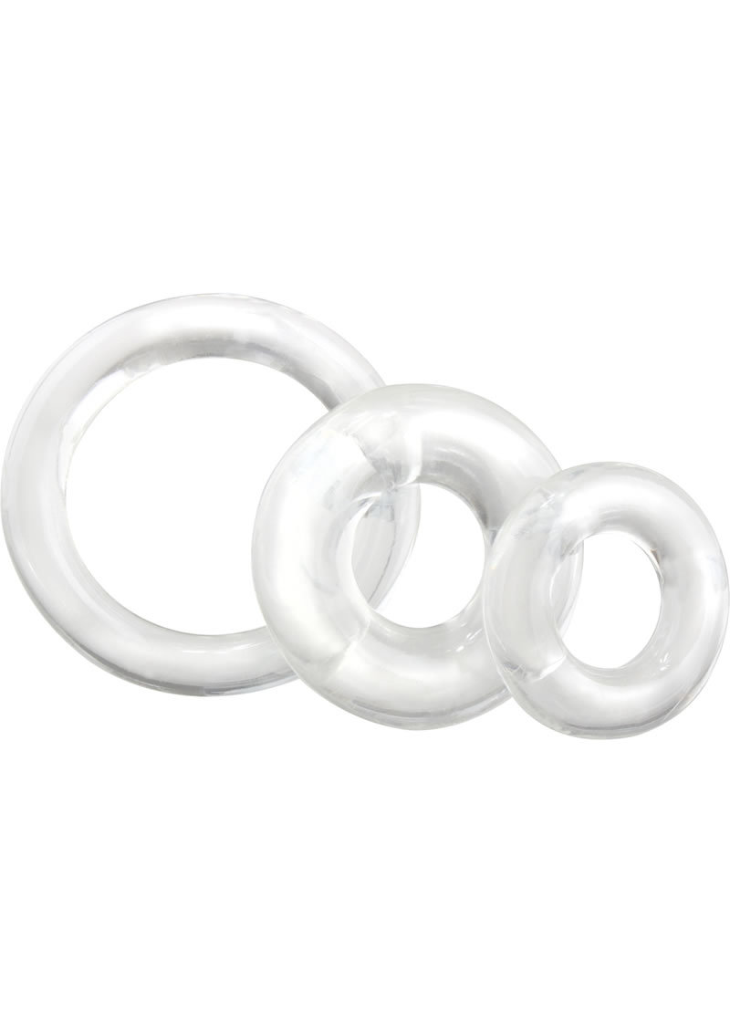 Ringo Cockrings 3 Sizes Per Pack Clear 6 Packs Per Counter Display