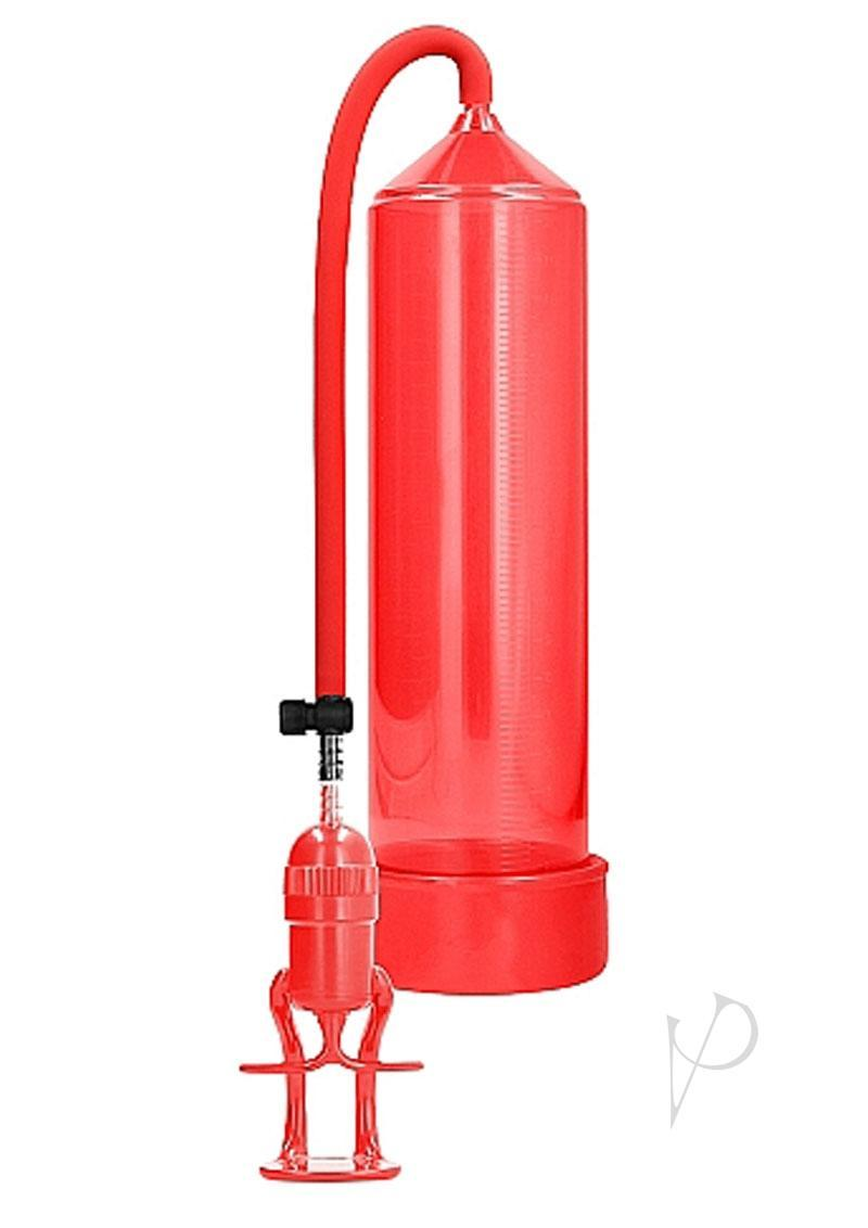 Pumped By Shots Deluxe Beginner Penis Pump Red