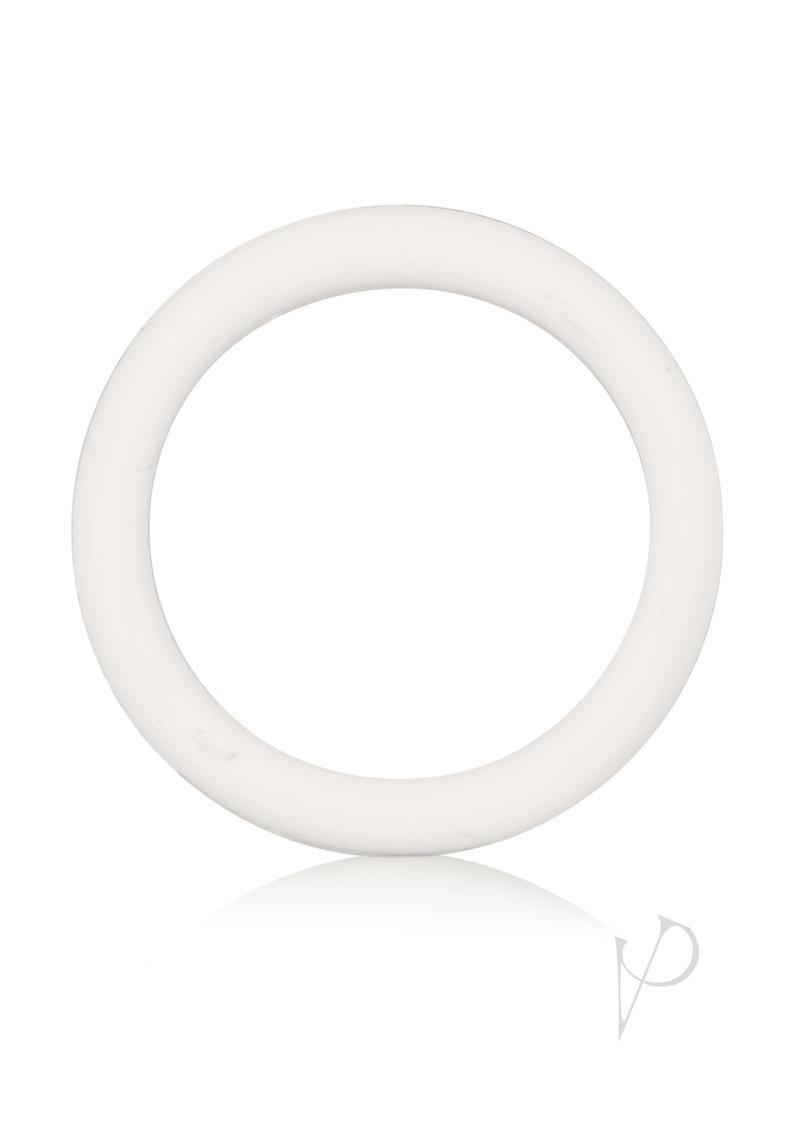 Rubber Cock Ring Medium 1.5 Inch Diameter White