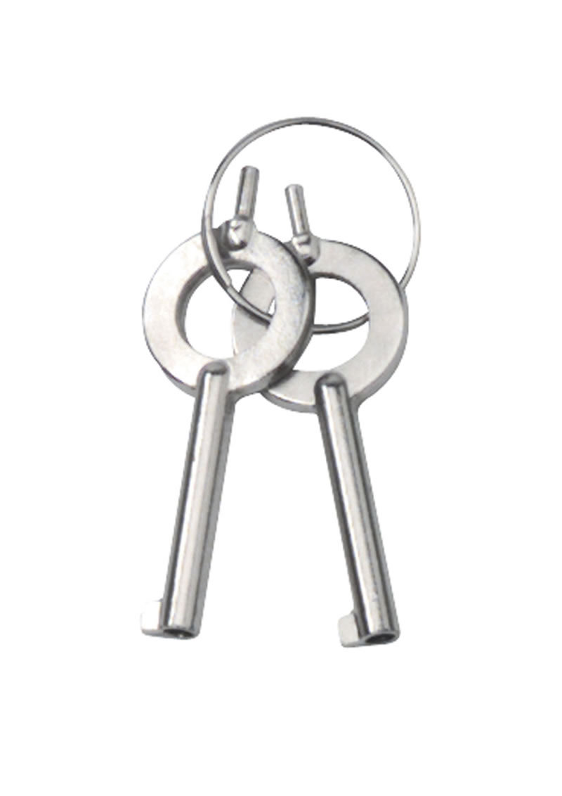 Nickel Coated Steel Handcuffs With Double Lock Silver